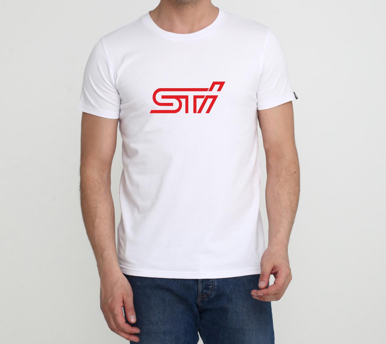 Футболка Subaru STI - белая