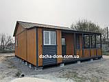 Дачный каркасный дом 8 м на 9,5 м. Новые технологии, фото 4