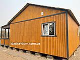 Дачный каркасный дом 8 м на 9,5 м. Новые технологии, фото 9