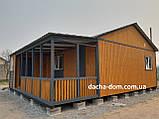 Дачный каркасный дом 8 м на 9,5 м. Новые технологии, фото 2