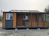 Дачный каркасный дом 8 м на 9,5 м. Новые технологии, фото 3