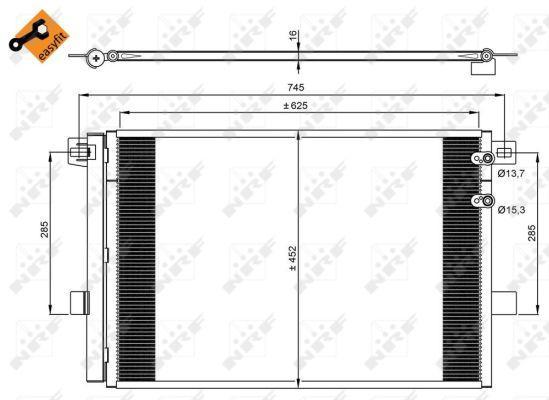 Радиатор кондиционера EASY FIT