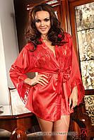 Халат с кружевной спинкой Beauty Night Prilance red, S/L, XL/XXL