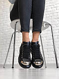 Женские кеды Alexander McQueen PA108 черные, фото 3
