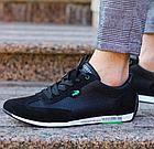 Мужские кожаные летние кроссовки перфорация Lacoste Lerond black (реплика), фото 2