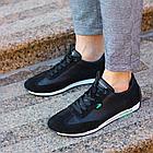 Мужские кожаные летние кроссовки перфорация Lacoste Lerond black (реплика), фото 5