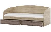 Кровать детская с ящиками Комфорт дуб сонома + трюфель