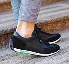 Мужские кожаные летние кроссовки перфорация Lacoste Lerond black (реплика), фото 6