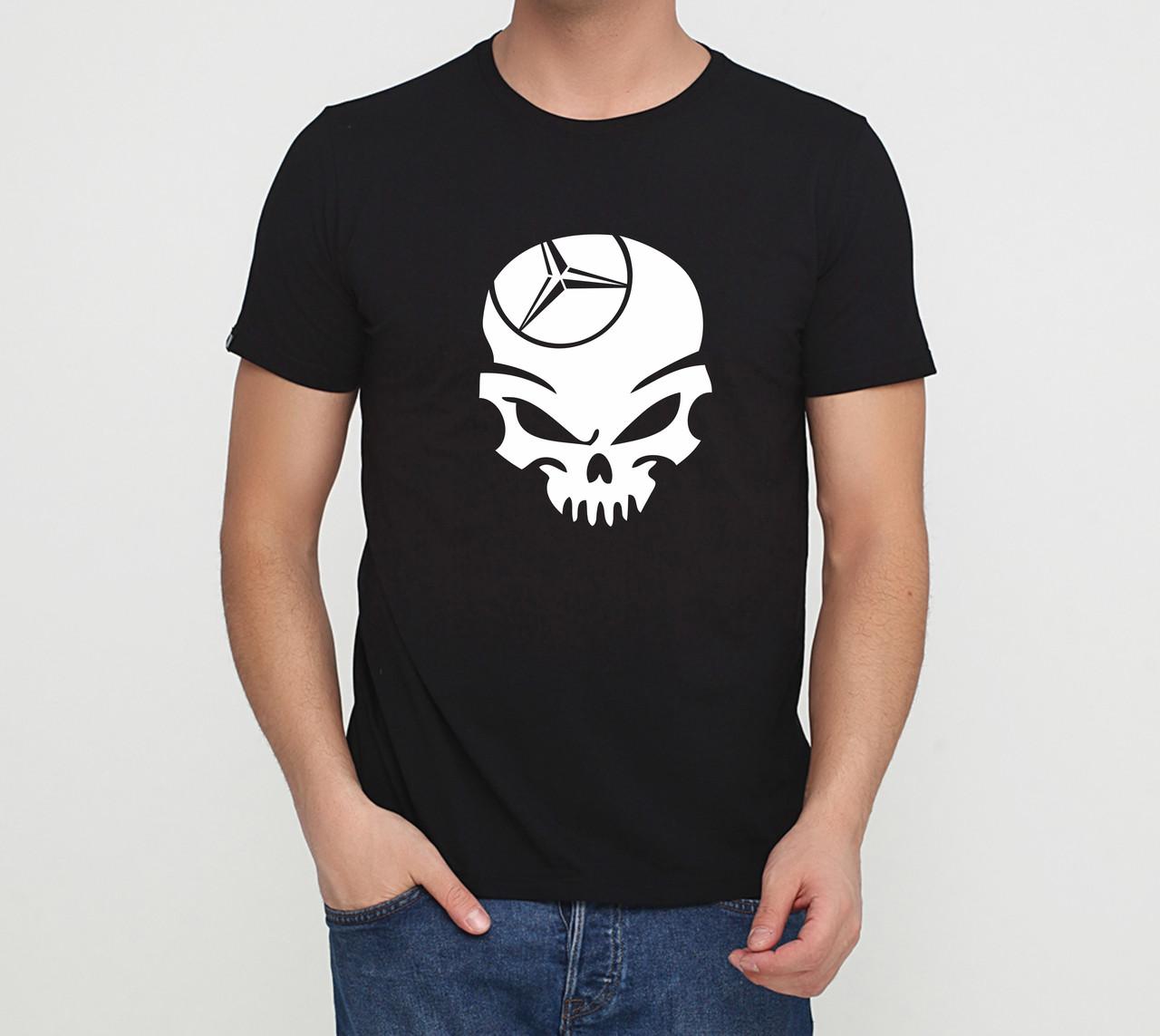 Футболка mercedes skull чорна
