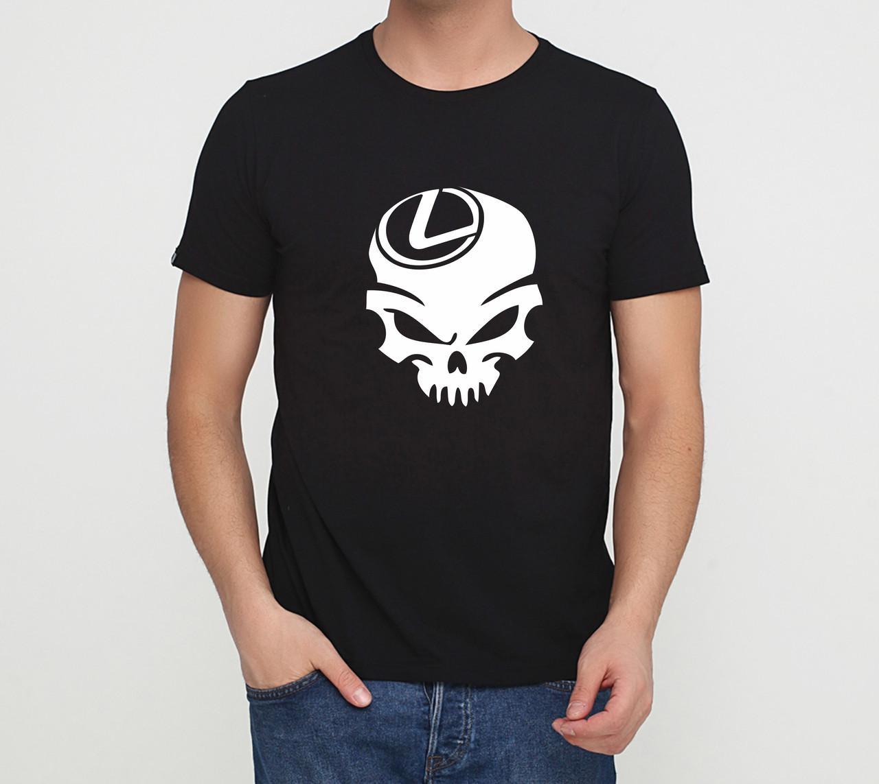 Футболка Lexus skull чорна