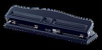 Дырокол металлический 4 отв до 10 л  293х68х43 мм  черный