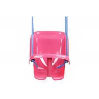 Детские качели подвесные 1660 Розовая Детские качели для дома Качели кресло