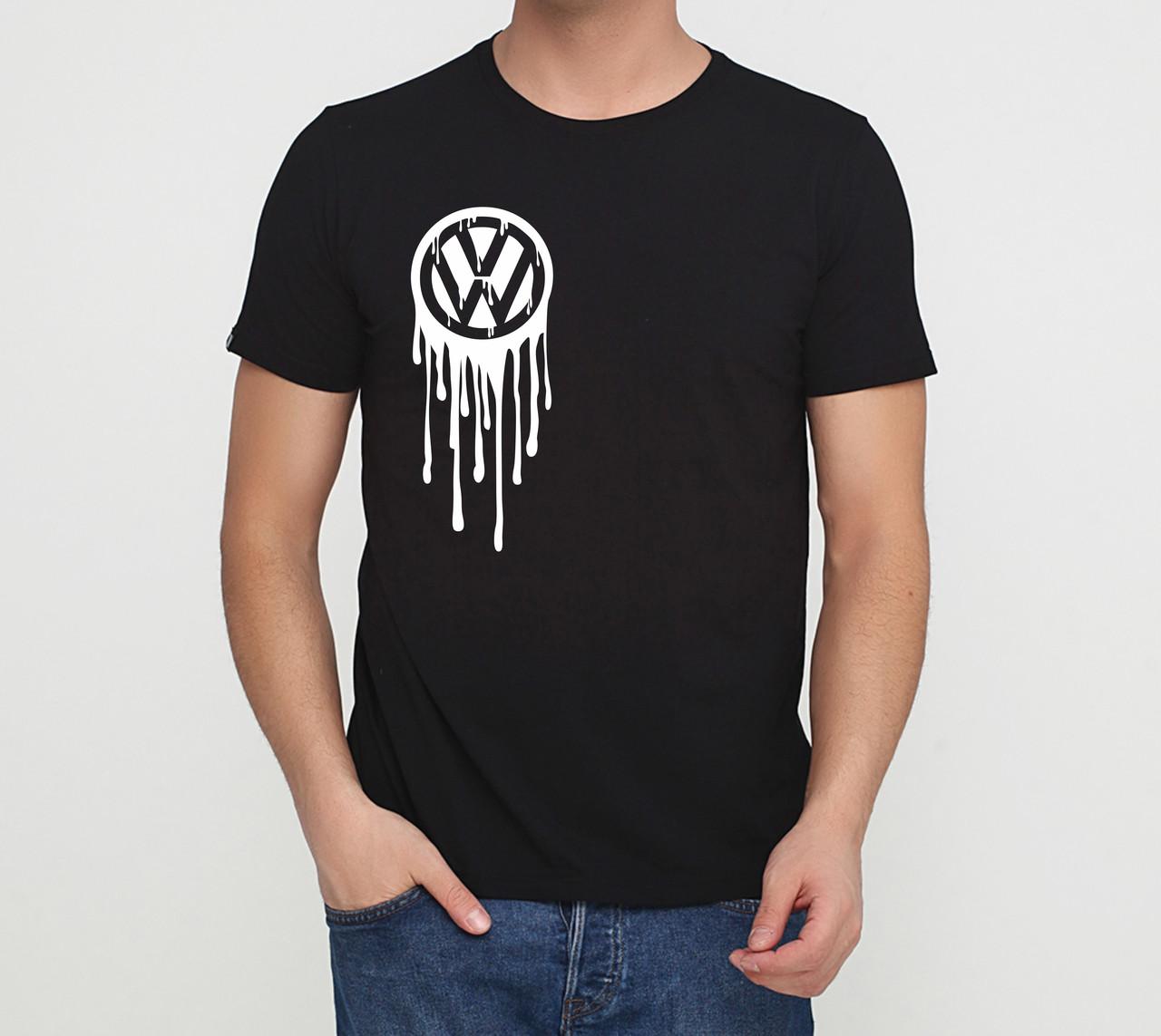 Футболка VW paint white чорна