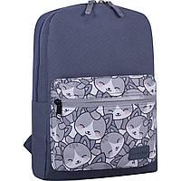 Рюкзак Bagland Молодежный коты 32*23*10 (серый)