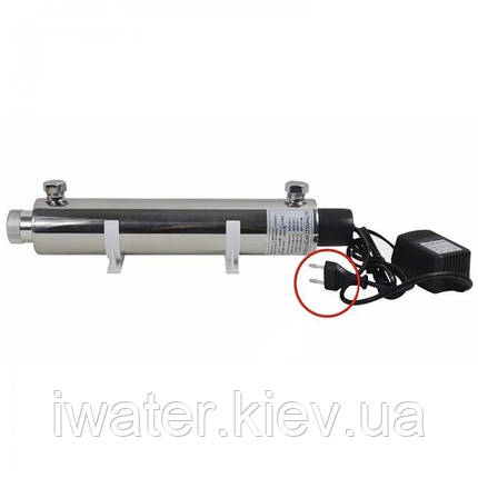Ультрафиолетовый обеззараживатель для воды Crystal UV-6GPM, фото 2