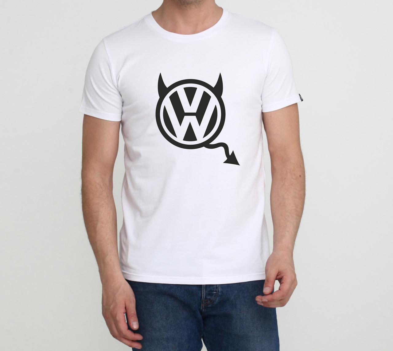 Футболка VW Devil біла