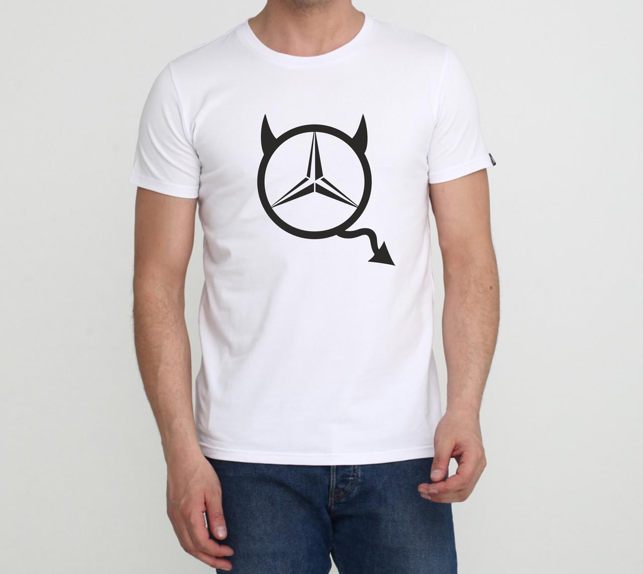 Футболка Mercedes Devil белая