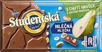 Шоколад молочный Orion Studentska с арахисом и грушей (Чехия) 180 г