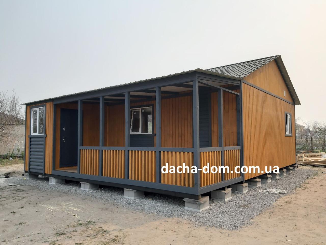 Дачный каркасный дом 8 м на 9,5 м. Новые технологии