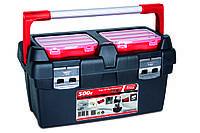 Ящик для инструментов Tayg Box 500-Е (Испания), с блокирующей ручкой, вкладкой и органайзером 50х29,5х27см