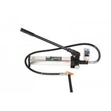 Насос гідравлічний посилений з манометром 10т(об'єм масла-0,5 л. тиску-630 bar)