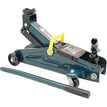 Домкрат підкатний 2 т з обертовою ручкою 180 градусів(h min 140мм, h max 340мм,вага 9,5 кг)