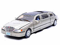KINSMART Lincoln Town Car Stretch Limousine, 1999, метал, инерц., 1:38, в кор. 23х8х8