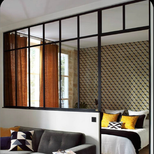 Перегородки из алюминия  в стиле лофт  Стеклянные двери LOFT Распашные, раздвижные, стационарные системы
