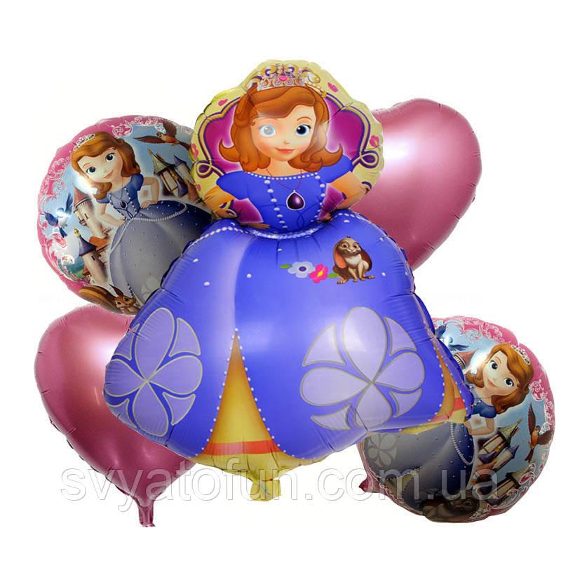 Набор фольгированных шаров Принцесса София 5 шт Китай