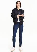 Синие демисезонные скинни джинсы H&M