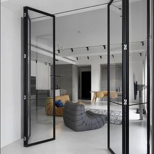 Перегородки из алюминия в стиле лофт Стеклянные двери LOFT Распашные, раздвижные, гормошкой системы