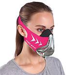Спортивная маска FDBRO для бега, фитнеса размер S, M, L розовая, фото 2