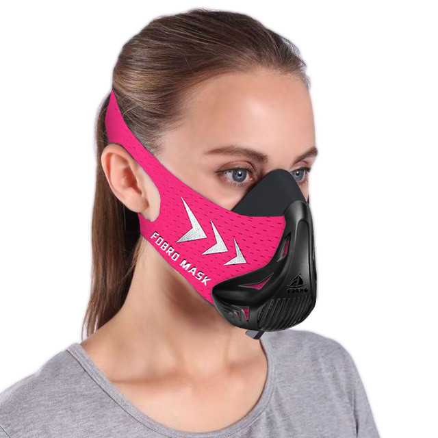Спортивная маска FDBRO для бега, фитнеса размер S, M, L розовая