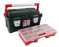 Ящик для инструментов Tayg Box550-Е(Испания)55*30*27,5 с блокирующей ручкой и большим органайзером (171000)