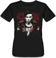 Женская футболка Black Veil Brides - Andy Biersack (чёрная)