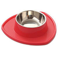 Миска для животных AnimAll с подставкой S 150 мл Красная (63525)