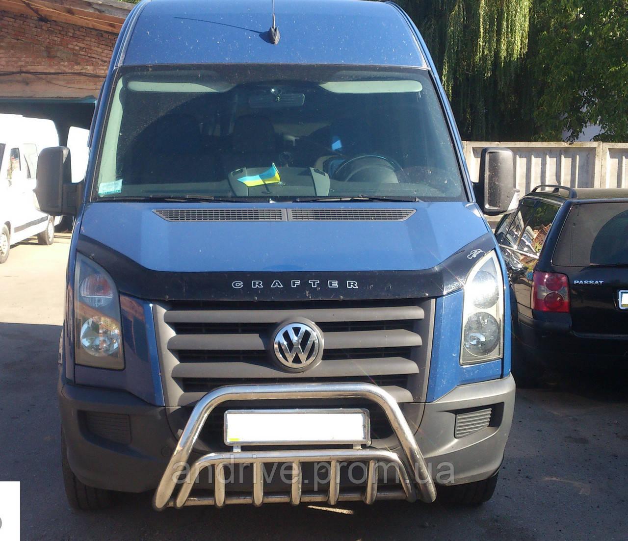 Защита переднего бампера (кенгурятник) Volkswagen Crafter 2006+