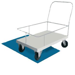 Дезковрик для колес тележек 100х100х1,5 см «Универсал»