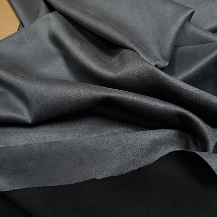 Замша стрейч на дайвинге серый, фото 2