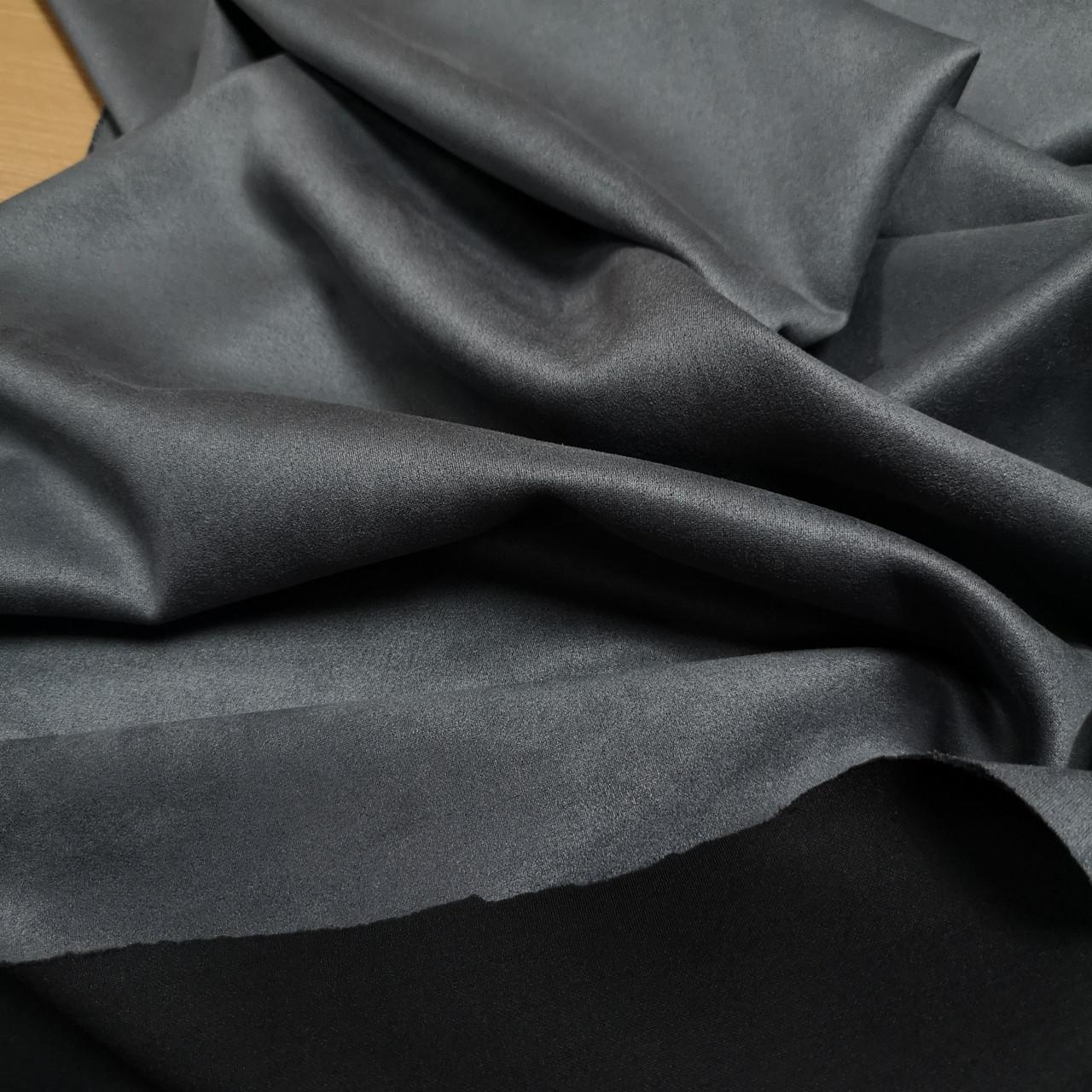 Замша стрейч на дайвинге серый