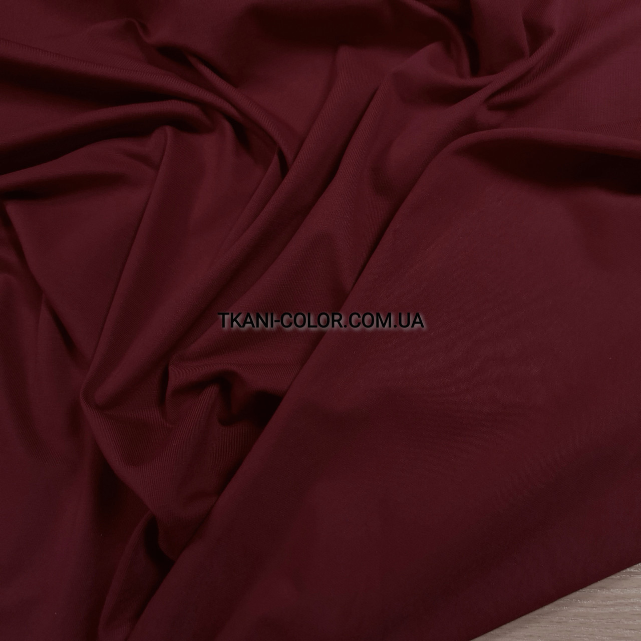 Ткань кулир стрейч бордовый