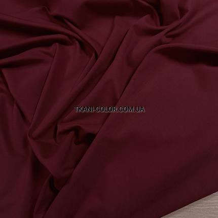 Ткань кулир стрейч бордовый, фото 2