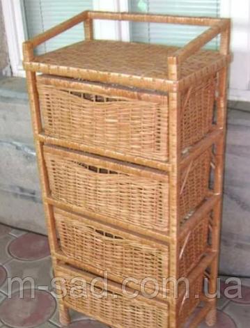 Комод плетеный на 4 ящика, фото 2