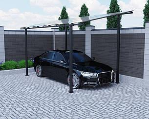 Автомобильный навес Oscar Halk 4000х5160х2986 мм Двойной слой молотковой краски, Монолитный поликарбонат Borrex 4 мм