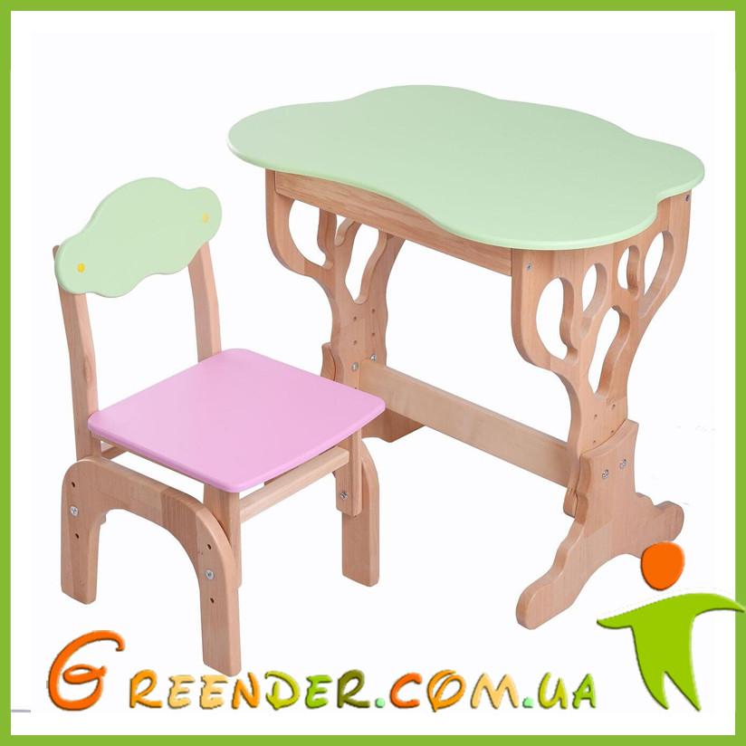 """Детский набор """"Дубок"""" Растишка (стол+ стульчик с пеналом) в 3 цветах"""