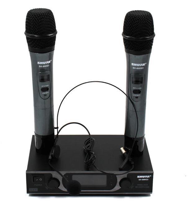 Радіосистема  SH-600G3, база, 2 мікрофона, гарнітура 7054