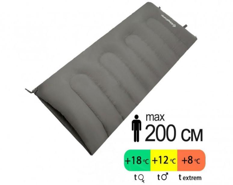 Спальник KingCamp Oxygen (grey, левая)