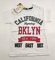 Детские футболки для мальчика 1 2 3 4 7 и 8 лет белая детская футболка с рисуноком Турция без рукавов летняя