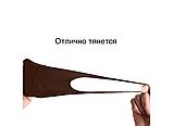 Трехслойная защитная маска многоразовая (неопрен), коричневый/красный, фото 5
