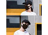 Трехслойная защитная маска многоразовая (неопрен), коричневый/красный, фото 2